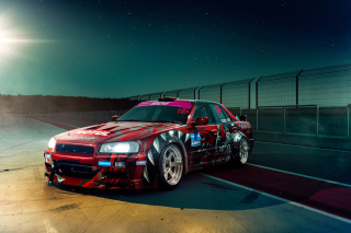 Nissan Skyline GTR R33 for Street Racing Background for Android, iPhone and iPad