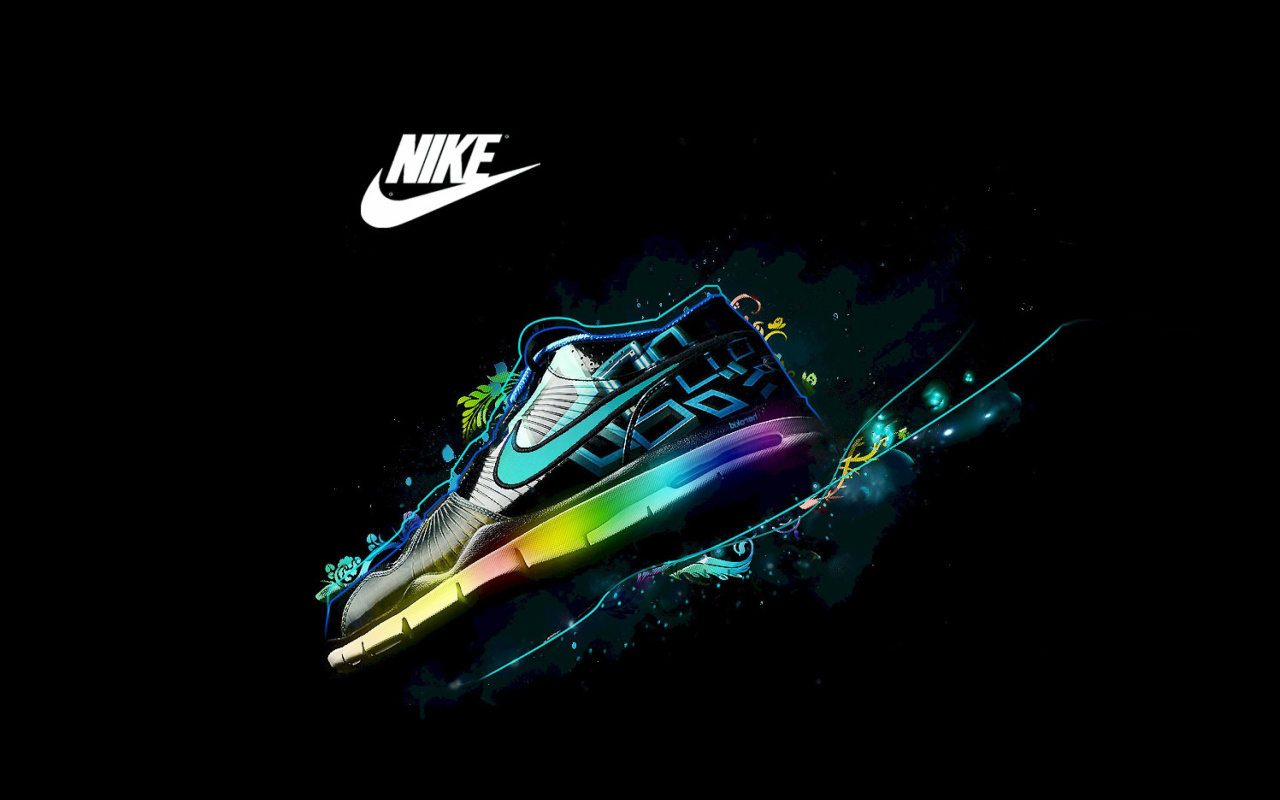 Screenshot №1 pro téma Nike Logo and Nike Air Shoes 1280x800
