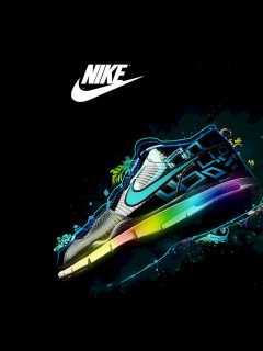 Screenshot №1 pro téma Nike Logo and Nike Air Shoes 240x320