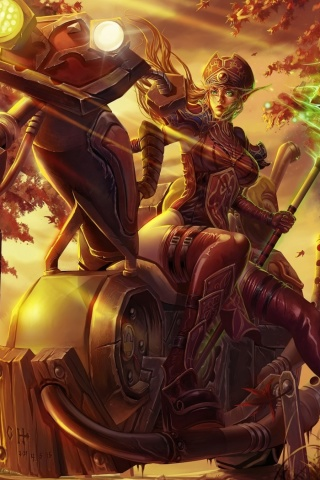 Fondo de pantalla Blood Elf World of Warcraft 320x480