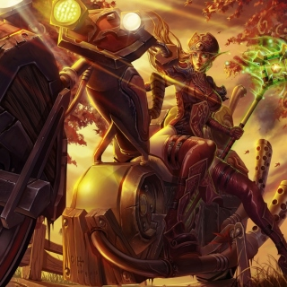 Blood Elf World of Warcraft sfondi gratuiti per iPad mini