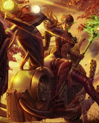Kostenloses Blood Elf World of Warcraft Wallpaper für Nokia Asha 308