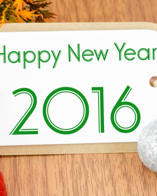 Happy New Year 2016 Card Wallpaper for Nokia Asha 306