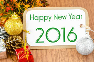 Happy New Year 2016 Card Wallpaper for Android, iPhone and iPad