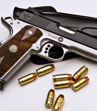Free Pistol and Bullets Picture for Nokia Asha 306