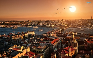 Istanbul Turkey Background for Samsung I9080 Galaxy Grand
