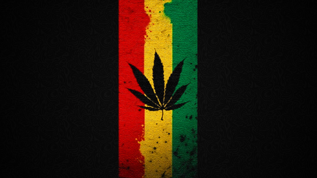 Leaf Rasta wallpaper 1280x720
