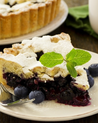 Classic Blueberry Pie Background for Nokia Asha 306