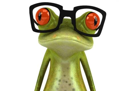 3D Frog Glasses para LG E400 Optimus L3