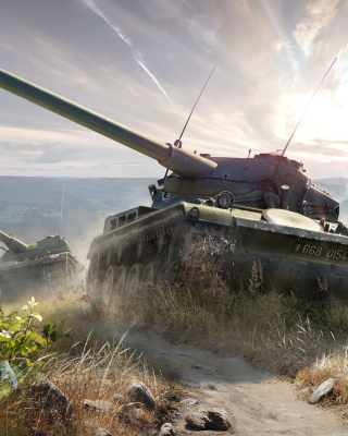 World of Tanks, French tank AMX 13 sfondi gratuiti per iPhone 6 Plus
