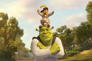 Shrek Donkey Puss In Boots Wallpaper for Samsung Galaxy A3