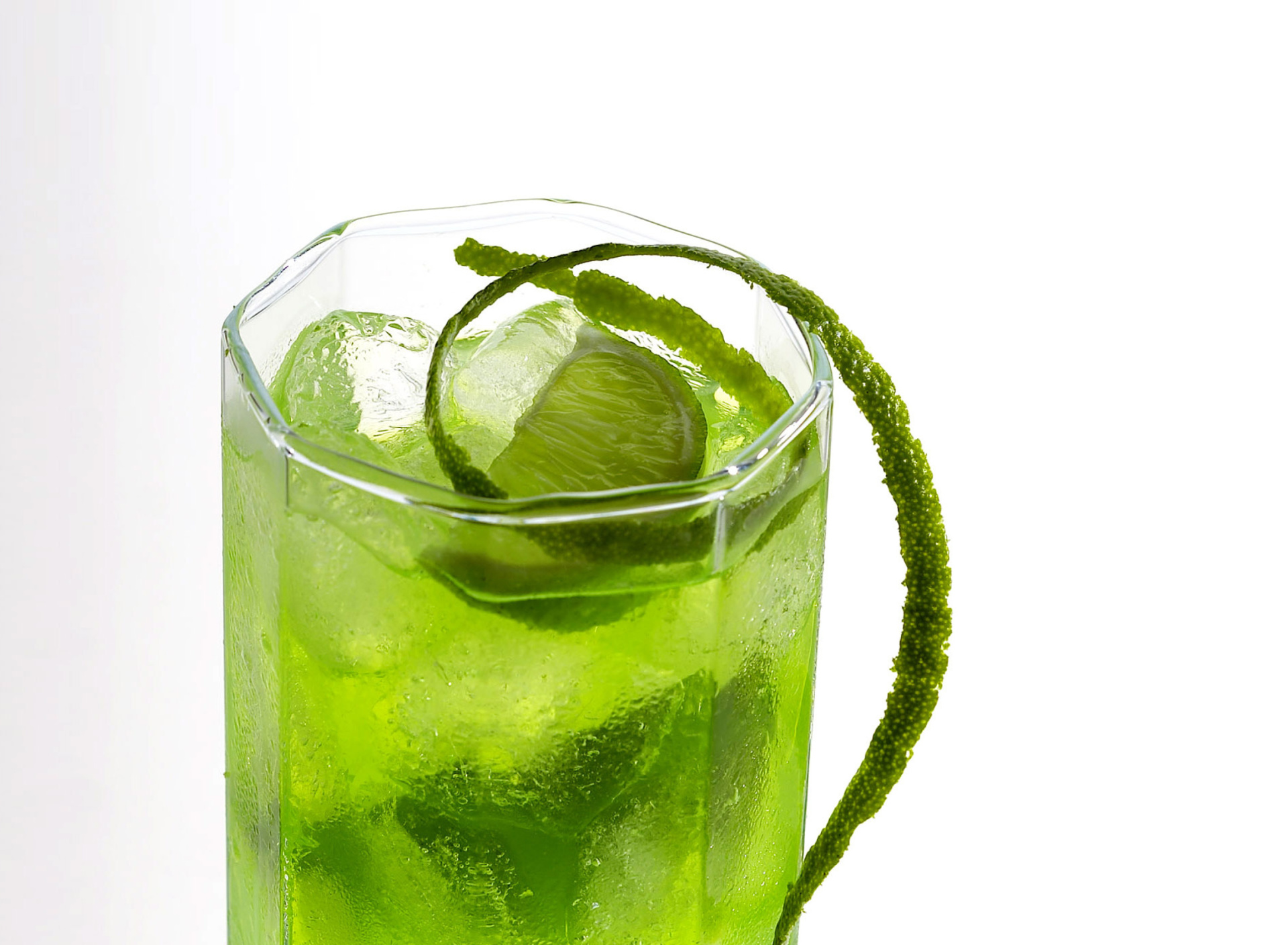 Screenshot №1 pro téma Green Cocktail with Lime 1920x1408