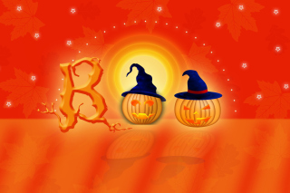 Halloween Pumpkins Background for Android, iPhone and iPad