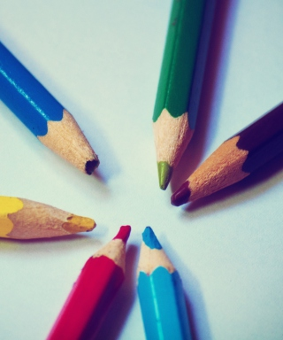Free Colorful Pencils Picture for Nokia Lumia 1020