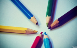 Colorful Pencils Background for Android, iPhone and iPad