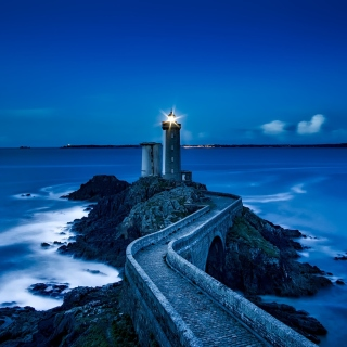 Free France Lighthouse in Ocean Picture for iPad mini