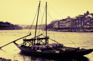Portugal Boat Background for Android, iPhone and iPad