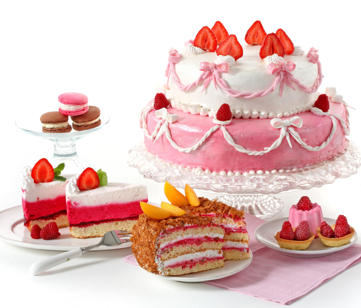 Screenshot №1 pro téma Strawberry biscuit cake 1200x1024