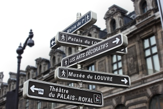 Free Paris Street Signs Picture for Android, iPhone and iPad