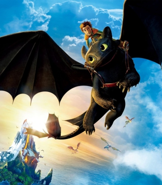 Hiccup Riding Toothless - Obrázkek zdarma pro iPhone 5
