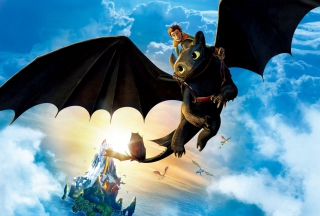 Hiccup Riding Toothless sfondi gratuiti per cellulari Android, iPhone, iPad e desktop