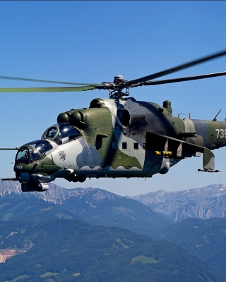 Mil Mi 24 Hind Attack Helicopter Wallpaper for 240x320