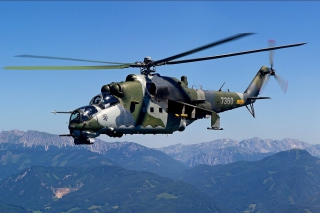 Free Mil Mi 24 Hind Attack Helicopter Picture for Android, iPhone and iPad