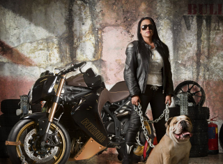 Biker Chick Picture for Android, iPhone and iPad