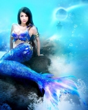 Screenshot №1 pro téma Misterious Blue Mermaid 128x160