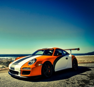 Free Orange Porsche 997 Picture for 208x208