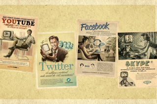 Social Networks Advertising: Skype, Twitter, Youtube Background for Android, iPhone and iPad
