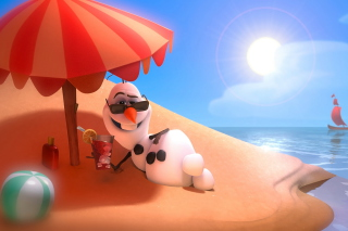 Free Olaf from Frozen Cartoon Picture for Android, iPhone and iPad