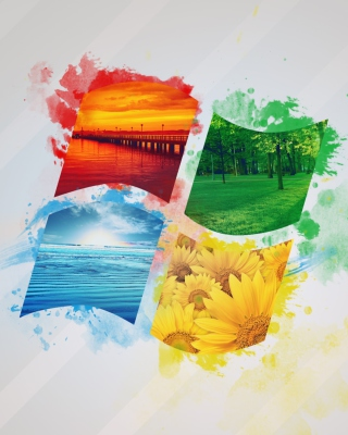 Free Windows Nature Logo Picture for 480x640