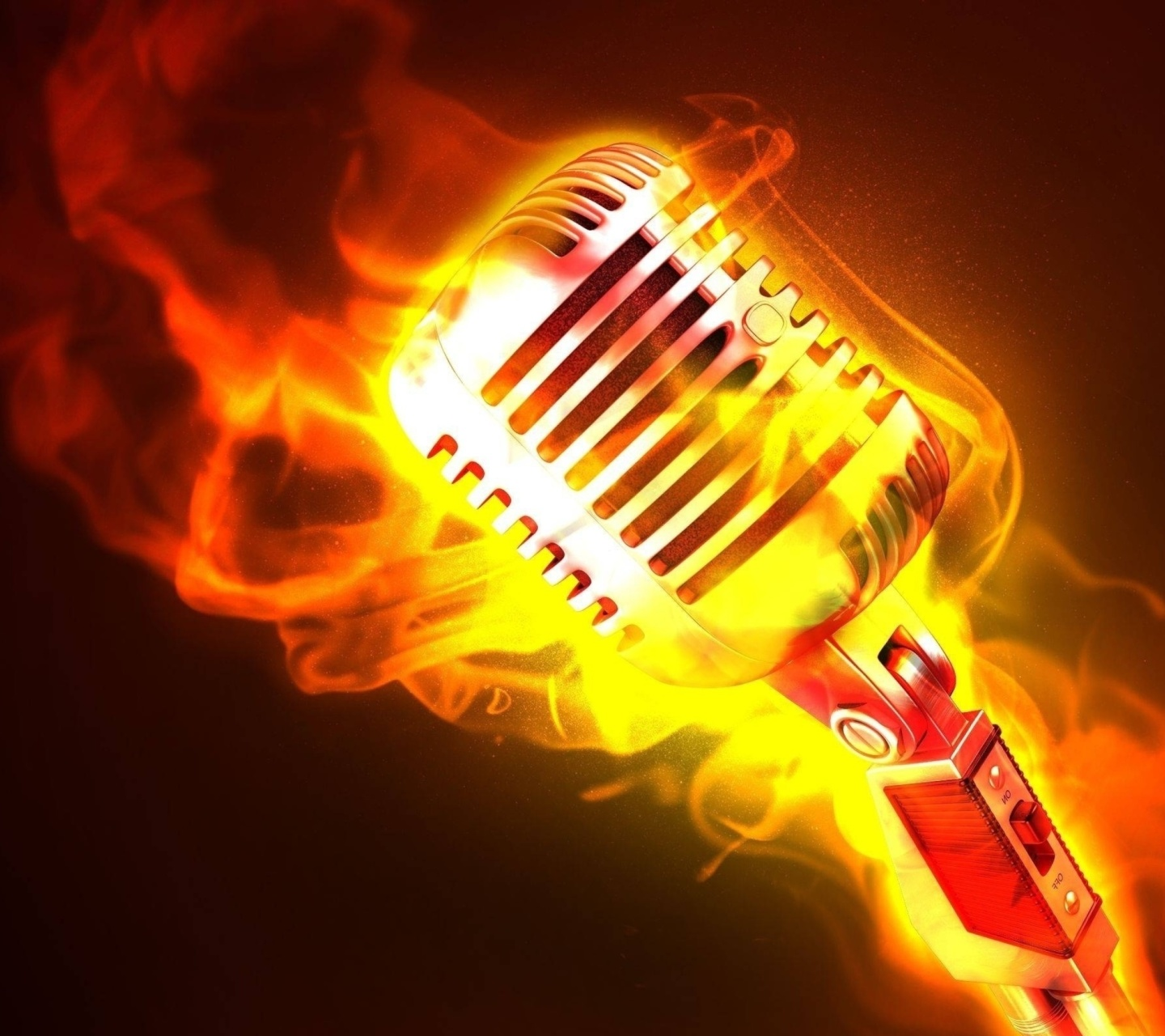 Microphone in Fire wallpaper 1440x1280