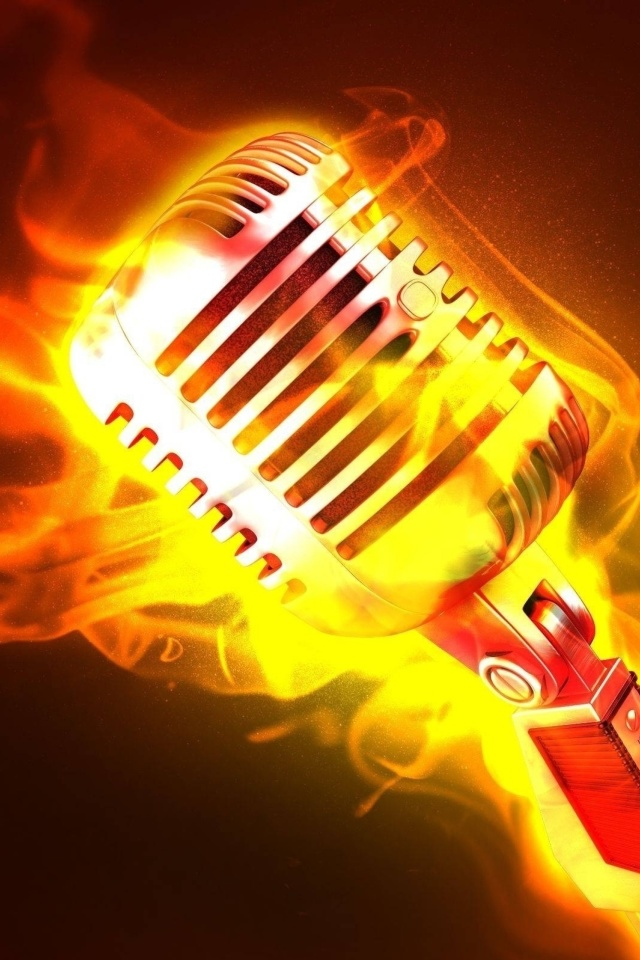 Screenshot №1 pro téma Microphone in Fire 640x960