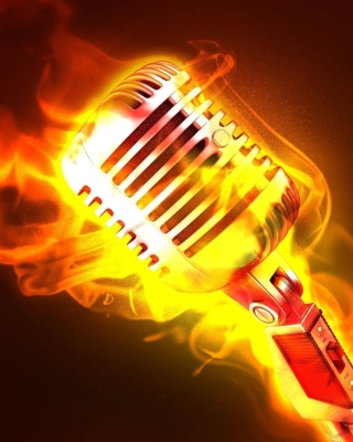 Microphone in Fire Wallpaper for Nokia Lumia 925