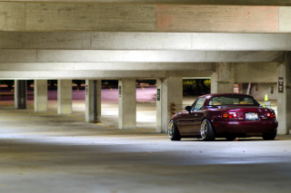 Mazda RX 8 In Garage Background for Android, iPhone and iPad