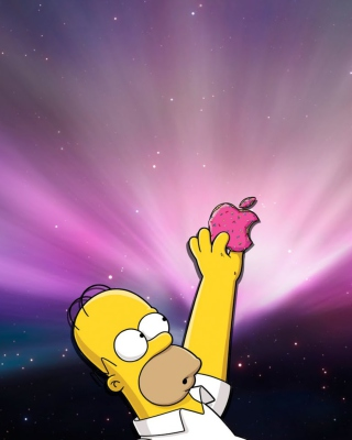 Homer Apple Wallpaper for 480x800