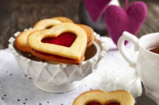 Free Heart Cookies Picture for Android, iPhone and iPad