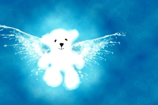 Angel Bear Background for Android, iPhone and iPad