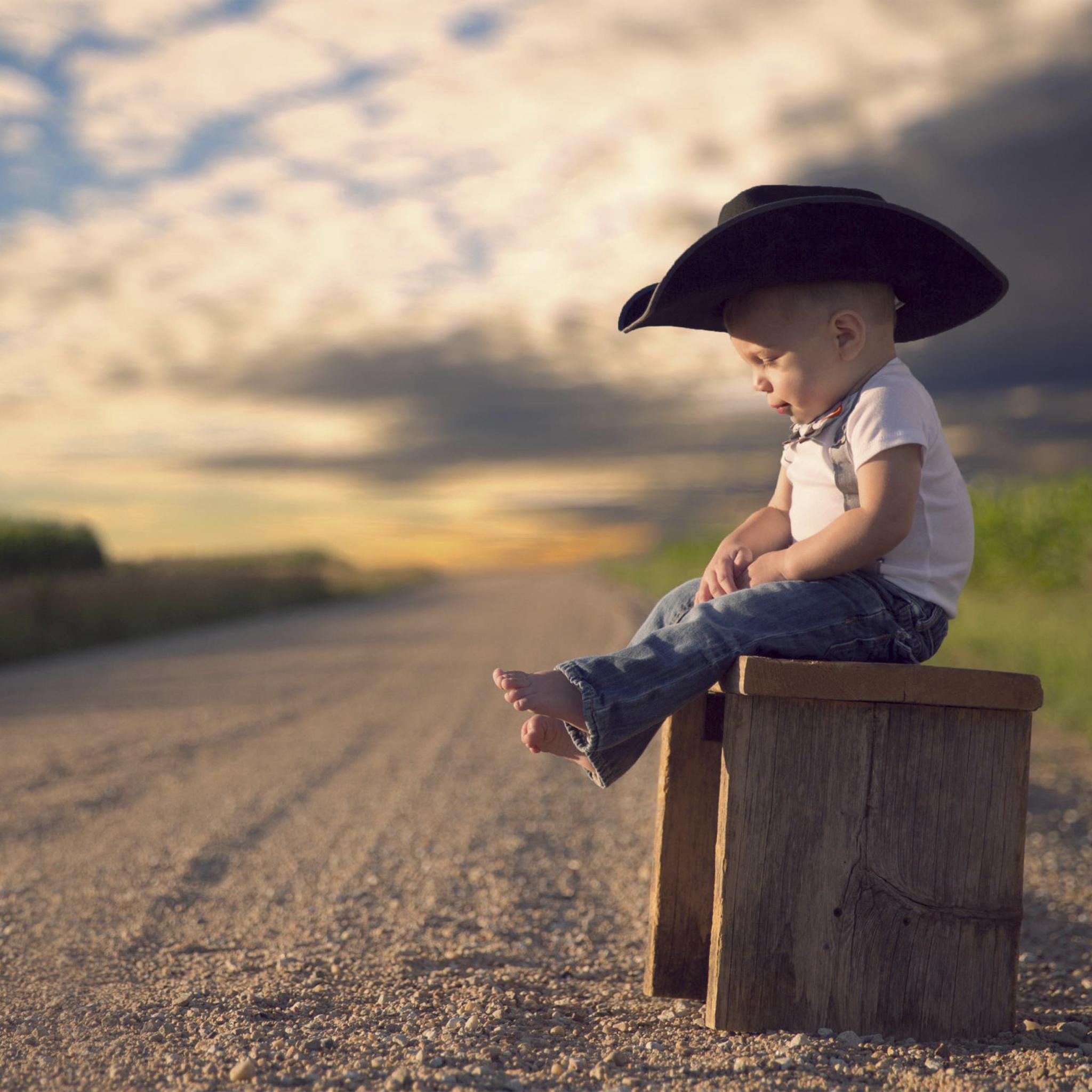 мальчик, ковбой, шляпа, джинсы без смс