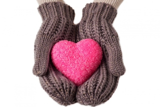 Heart in Gloves Background for Android, iPhone and iPad