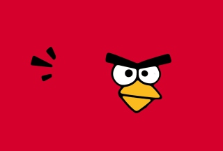 Red Angry Bird Background for Android, iPhone and iPad