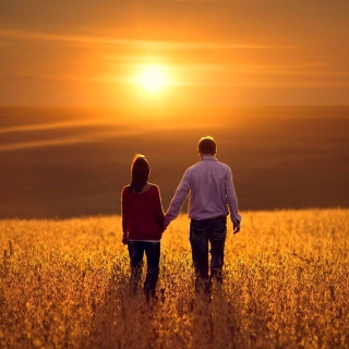 Couple at sunset - Fondos de pantalla gratis para 1024x1024