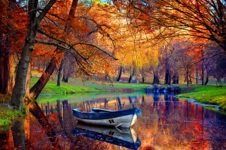 September Autumn River - Fondos de pantalla gratis