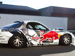 Screenshot №1 pro téma Mad Mike RedBull RX7 Drifting 320x240