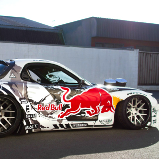 Mad Mike RedBull RX7 Drifting Wallpaper for LG KP105
