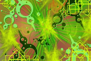 Abstract Green Background for Android 2560x1600