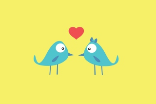 Birds In Love sfondi gratuiti per 1200x1024