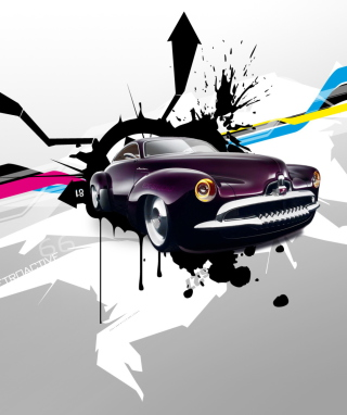 Abstract Car Wallpaper for 768x1280